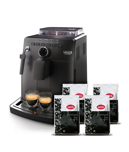Gaggia Naviglio Black automatic coffee machine + 4 packs Baristo Premium bar 250g thumbnail