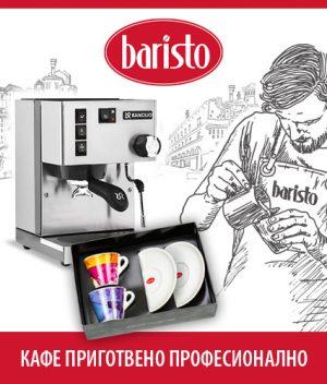 Кафе машина Rancilio Silvia Silver + комплект дизайнерски чаши Baristo thumbnail